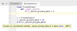 Сокрытие в Python