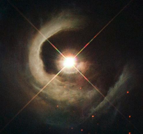 Снимок далекой звезды в космосе