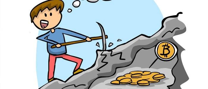 КДПВ: чувак долбит скалу киркой в поисках монет