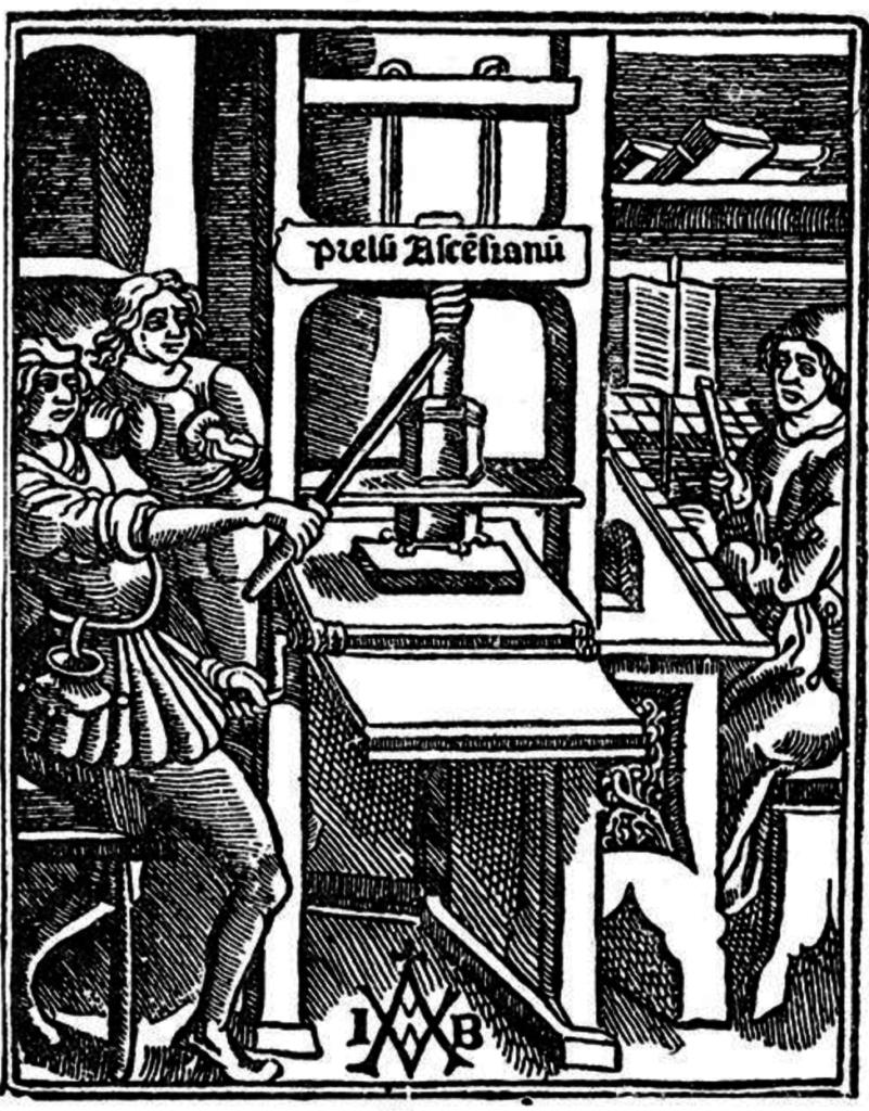 Старый печатный пресс